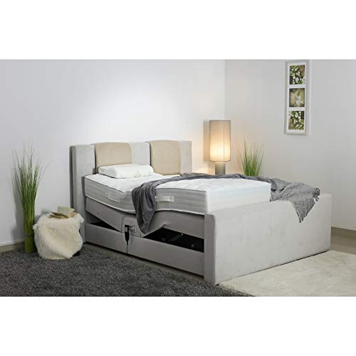 PAARA Boxspringbett Boss GMG | 10.000 Newton Motorleistung | LED | Antirutsch Matten | Royal WS® Taschenfederkern Matratze GELAX® Topper Kern | Made in Germany (200 x 220 cm)