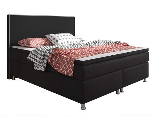 Inter King Size Boxspringbett, 100% Polyester,, 180x200