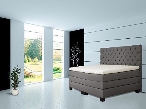 Rockstar Boxspringbett Mit Talalay Latex Topper 180x200 H1
