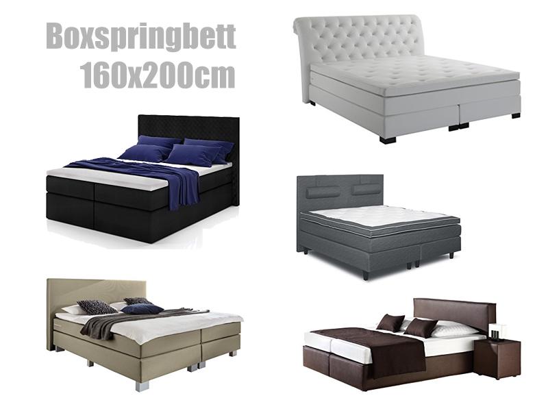 boxspringbett 160x200 mit oder ohne bettkasten. Black Bedroom Furniture Sets. Home Design Ideas