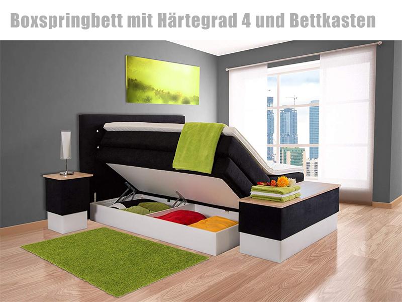 Komfort Topper Hotelbett 7 Zonen Taschenfederkern H4 H3