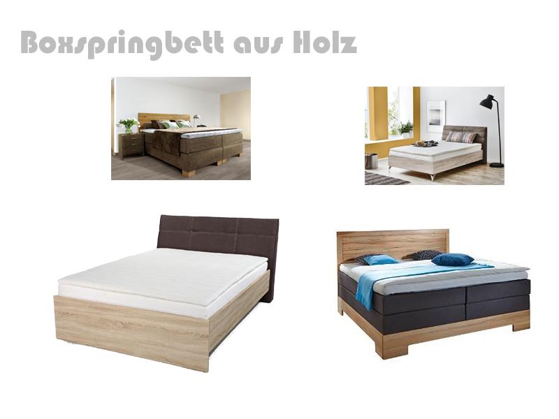 Boxspringbett holzoptik  Boxspringbett Holz | Massivholz