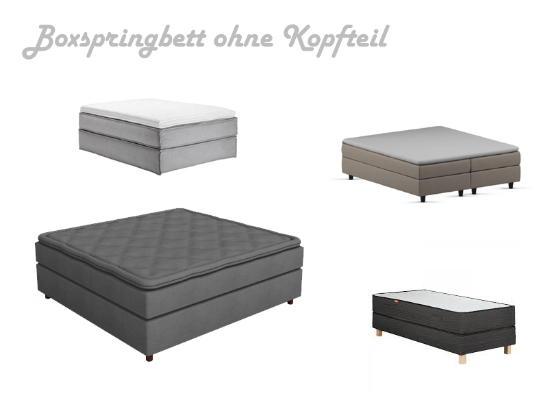 boxspringbett ohne kopfteil kopfst ck. Black Bedroom Furniture Sets. Home Design Ideas